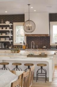 Impressive farmhouse country kitchen decor ideas 04