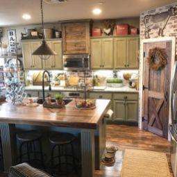 Impressive farmhouse country kitchen decor ideas 05