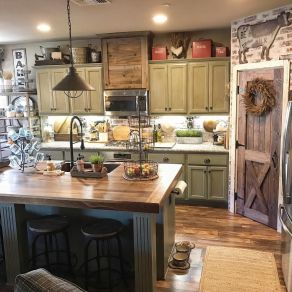 Impressive farmhouse country kitchen decor ideas 05
