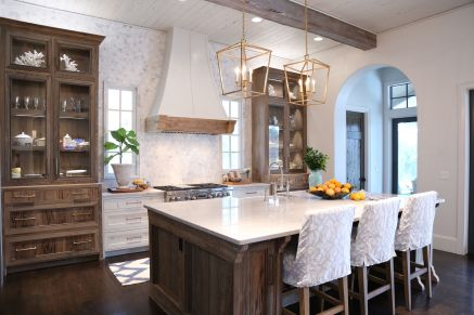 Impressive farmhouse country kitchen decor ideas 07