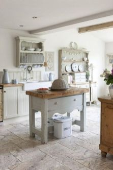 Impressive farmhouse country kitchen decor ideas 08