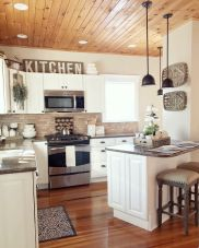 Impressive farmhouse country kitchen decor ideas 19