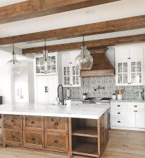 Impressive farmhouse country kitchen decor ideas 20