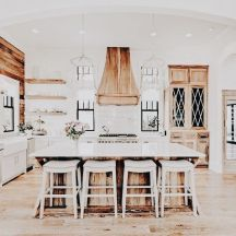 Impressive farmhouse country kitchen decor ideas 28
