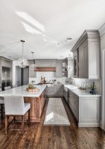Impressive farmhouse country kitchen decor ideas 29