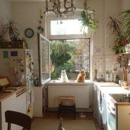 Impressive farmhouse country kitchen decor ideas 40