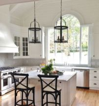 Impressive farmhouse country kitchen decor ideas 44