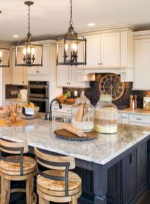 Impressive farmhouse country kitchen decor ideas 45