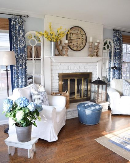 Lovely rustic coastal living room design ideas 02