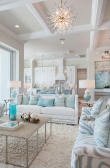 Lovely rustic coastal living room design ideas 20