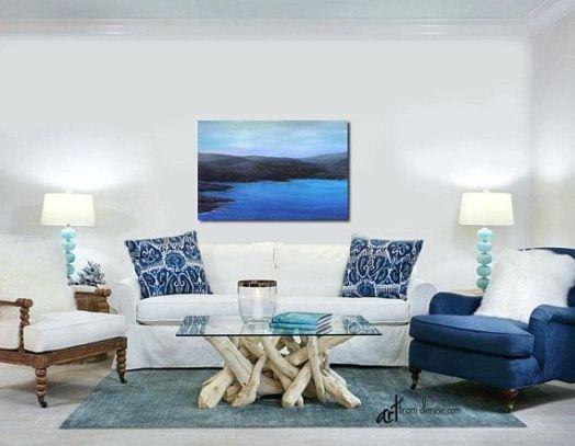 Lovely rustic coastal living room design ideas 33