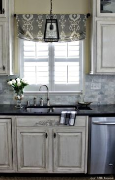 Most popular grey and white kitchen curtains ideas 02