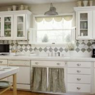 Most popular grey and white kitchen curtains ideas 11