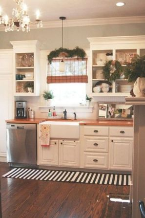 Most popular grey and white kitchen curtains ideas 15