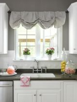 Most popular grey and white kitchen curtains ideas 25