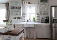 Most popular grey and white kitchen curtains ideas 33
