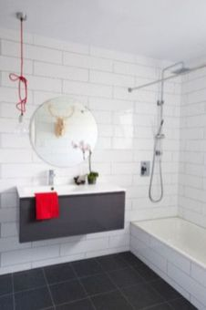 Most popular red black and white bathroom decor ideas 03