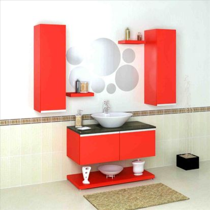 Most popular red black and white bathroom decor ideas 24