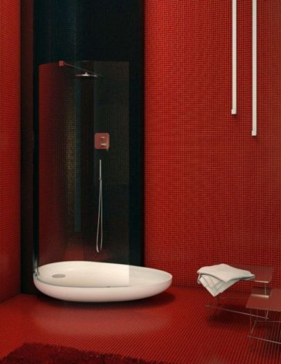 Most popular red black and white bathroom decor ideas 25