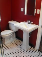 Most popular red black and white bathroom decor ideas 28