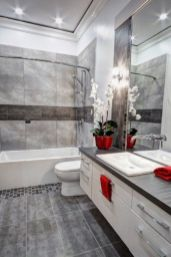 Most popular red black and white bathroom decor ideas 29