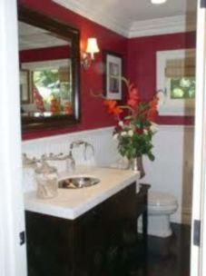 Most popular red black and white bathroom decor ideas 34