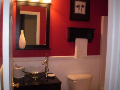 Most popular red black and white bathroom decor ideas 35