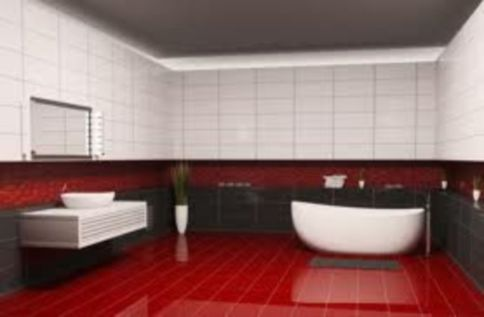 Most popular red black and white bathroom decor ideas 42