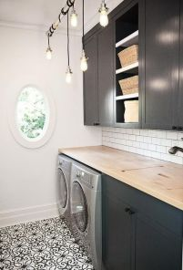 Outstanding black and white laundry room ideas 05