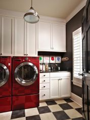 Outstanding black and white laundry room ideas 11