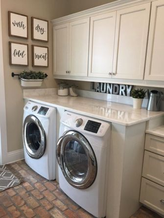 Outstanding black and white laundry room ideas 12