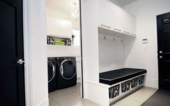 Outstanding black and white laundry room ideas 15