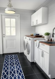 Outstanding black and white laundry room ideas 30