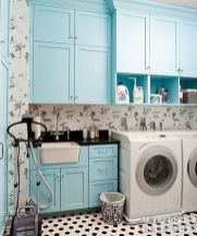 Outstanding black and white laundry room ideas 40