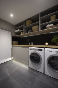 Outstanding black and white laundry room ideas 42