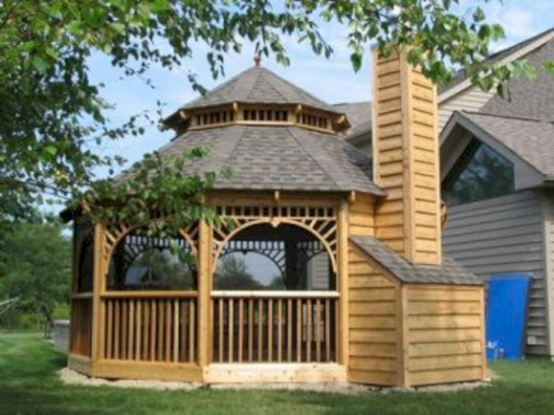 Relaxing gazebo design ideas you can copy 38