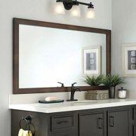Stunning bathroom mirror decor ideas 46