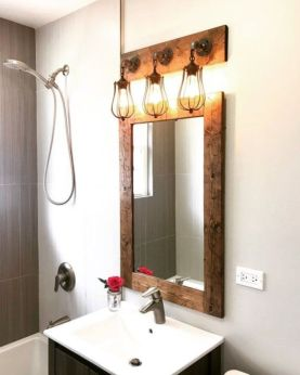 Stunning bathroom mirror decor ideas 47
