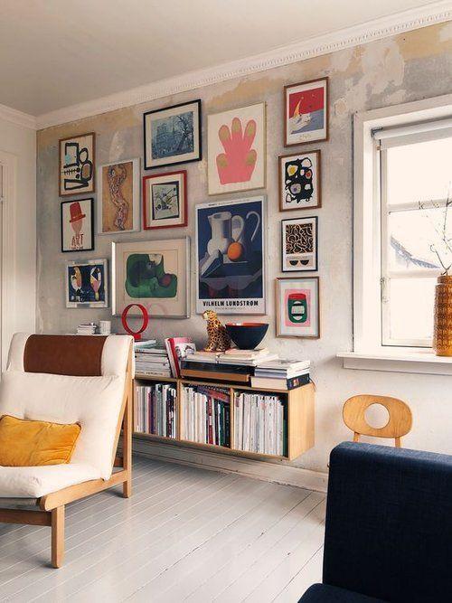 Stunning living room wall gallery design ideas 04