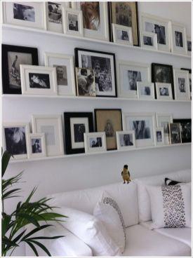 Stunning living room wall gallery design ideas 16