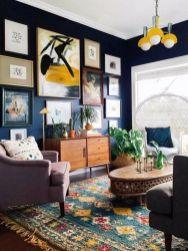 Stunning living room wall gallery design ideas 21