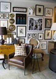 Stunning living room wall gallery design ideas 30