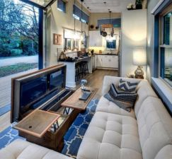 Unusual tiny living room design ideas for tiny house 10