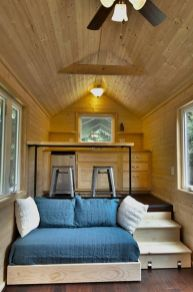 Unusual tiny living room design ideas for tiny house 49