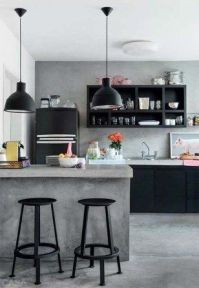 Amazing black kitchen design ideas 02