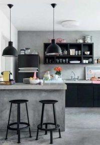 Amazing black kitchen design ideas 02