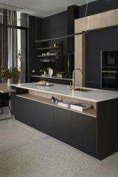 Amazing black kitchen design ideas 05