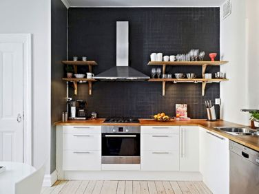 Amazing black kitchen design ideas 17