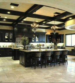 Amazing black kitchen design ideas 18