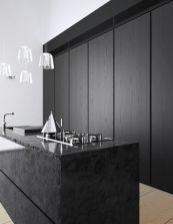 Amazing black kitchen design ideas 25